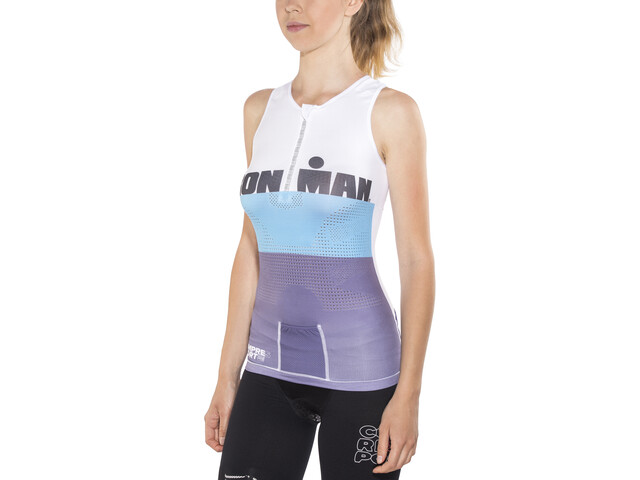 Compressport TR3 Triathlon Tank Top Ironman Edition Women, stripes grey